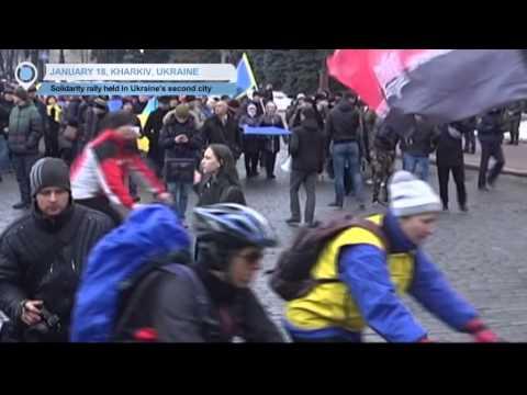 Ukraine Peace March: National solidarity rally held in Ukraine's second city Kharkiv
