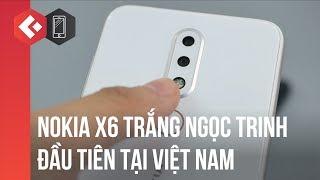 Trên tay nokia X6 màu trắng ngọc trinh đầu tiên tại VN - Best trong tầm giá 5 triệu