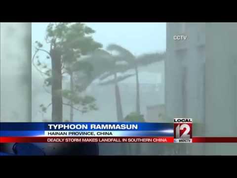 Powerful typhoon hits southern Chinese island
