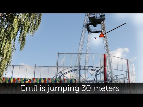 Worlds Most Crazy Terrifying Free Fall Drop   SCAD Tower  Tivoli friheden