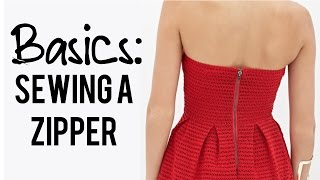 Basics: How to sew a Zipper (in the back of a dress)