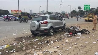 Hà Nội: Ôtô đâm hàng loạt xe máy, 4 người thương vong   VTC14