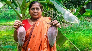 Vegetable Recipe: Banana Flower Fried Recipe with Potatoes by Village Food Life