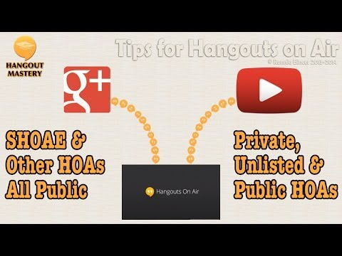 So Many Ways to use Hangouts on Air - where do I start?