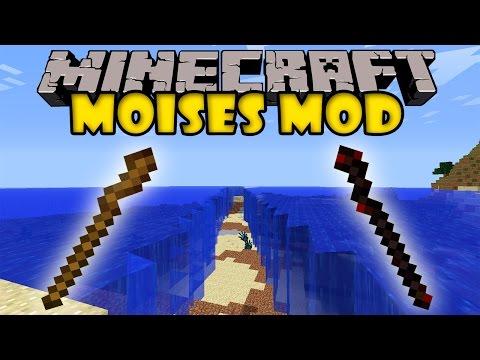 MOISES MOD - Separa los mares - Minecraft mod 1.5.2 y 1.6.4 Review ESPAÑOL