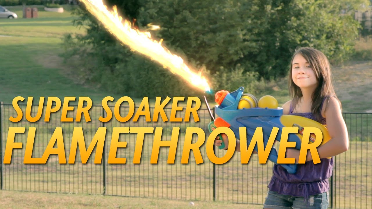 The Super Soaker Flamethrower! - YouTube