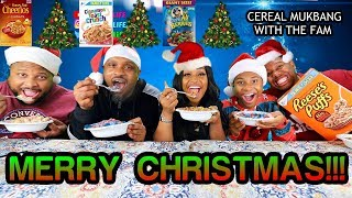 Christmas Day Cereal Mukbang With The Family