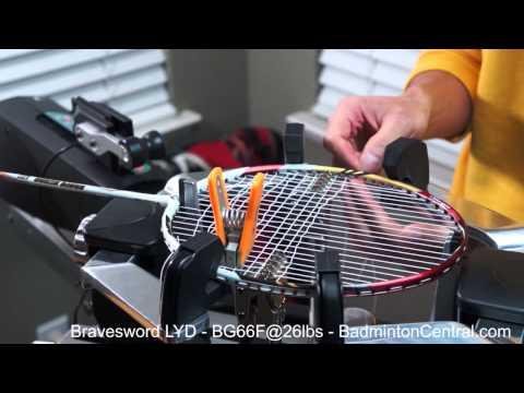 Badminton Stringing - Victor Bravesword Lee Yong Dae + Yonex BG66 Force @ 26lbs