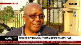 Health Minister Aaron Motsoaledi pays tribute to Edna Molewa