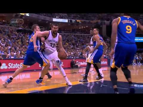 NBA, playoff 2015, Warriors vs. Grizzlies, Round 2, Game 4, Move 42, Marc Gasol, layup