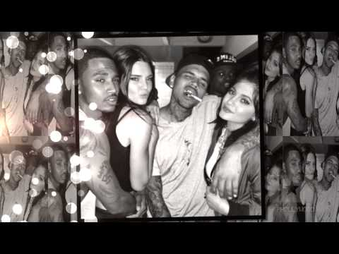 Trey Songz Parties Hard With Chris Brown and the Jenner Sisters