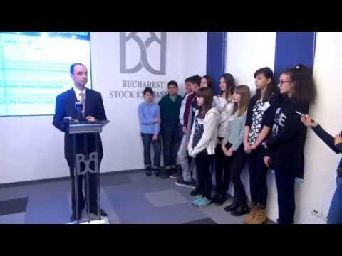 "Inaugurarea ""Global Money Week"" de Bursa de Valori București"