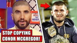 Ariel Helwani criticizes Khabib for copying Conor McGregor's path; Ali on Khabib vs Floyd Mayweather