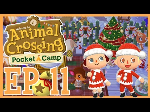HOLIDAY DECORATING! Let's Play Pocket Camp EP 11! How To Get Holiday Furniture and Candy Canes