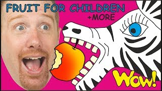Fruit for Children + MORE English Stories for Kids from Steve and Maggie | Learn with Wow English TV