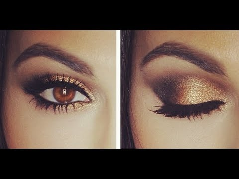 gold smoky eye tutorial youtube