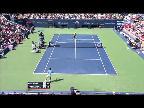 Roger Federer - Best Points @ US Open '12 - (HQ)