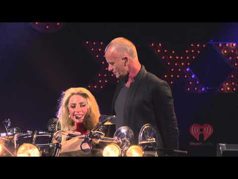 Lady GaGa Live iHeart Radio (Telephone, Paparazzi) [Stand By Me, King of Pain With Sting] HD