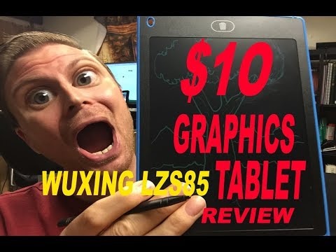 $10 Graphics Tablet Wuuuuut!?  (Review of WUXING LZS85 LCD 8.5 inch Digital Graphic Tablet)