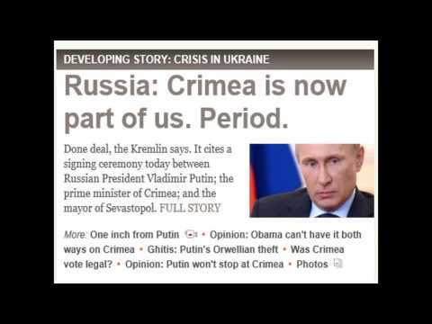 UKRAINE Crisis - Russians Invades ,US tweets -Putin & Obama