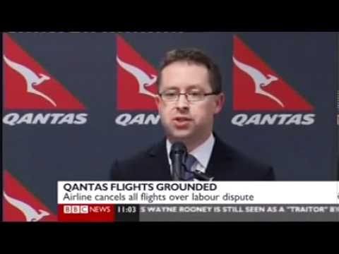 Alan Joyce grounds Qantas fleet worldwide.