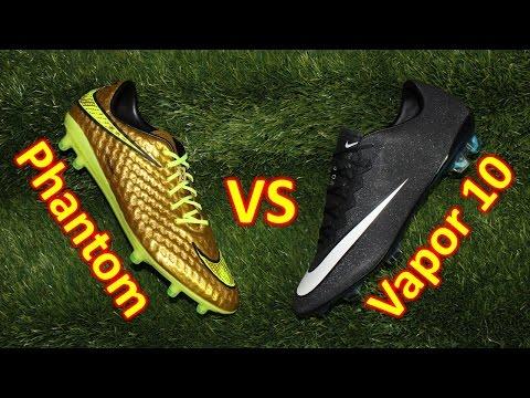 Nike Hypervenom Phantom VS Nike Mercurial Vapor 10 - Review + Comparison