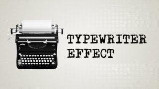 Adobe After effects tutorial: Typewriter effect WITHOUT expressions! Possible under 1 minute!