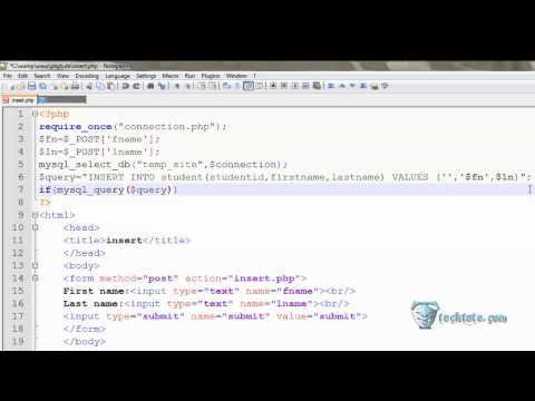 09 Insert data into database using php(HINDI).mp4
