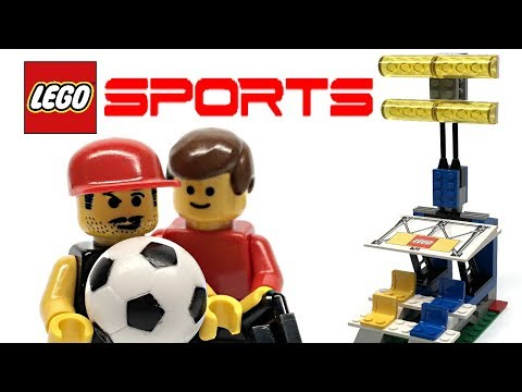 LEGO Sports Soccer / Football Stand with Lights review! 2000 set 3402!