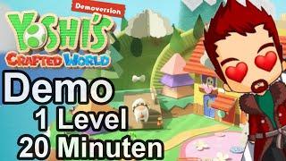 🥚Yoshi's Crafted World 🎮 Demo Gameplay 🔨 Deutsch 👏 Nintendo Switch (60fps, 4K, German, Blind)