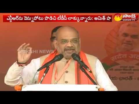 Amit Shah addresses Public Meeting in Palasa || Andhra Pradesh || Sakshi TV