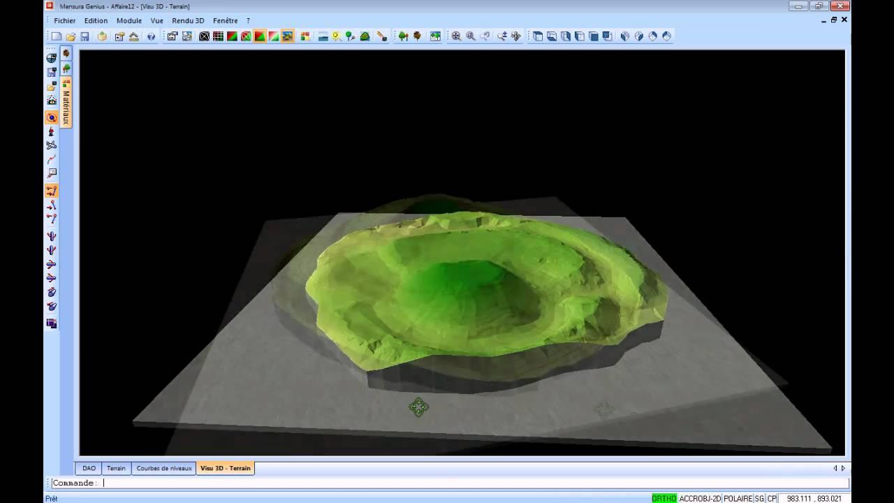 Rendu 3d Maquette 3d D 39 Analyse De Mnt Youtube