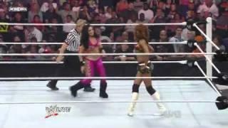 WWE Raw 09/06/10 Melina vs Alicia Fox - Divas Championship Match