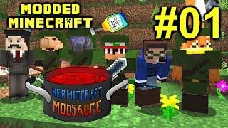 Minecraft Mod Sauce Ep. 1 - Journey Begins ( HermitCraft Modded Minecraft )