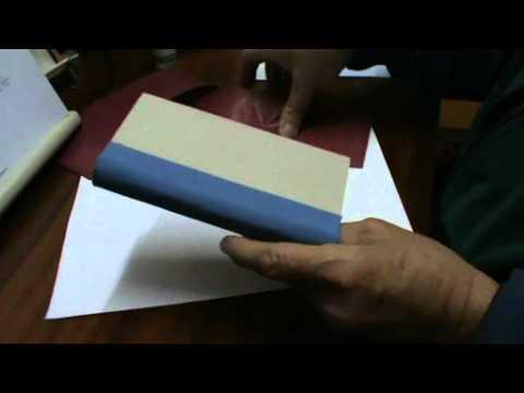 Encuadernaci n de libros 3 las tapas youtube - Como hacer un libro hueco ...
