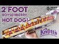 EATING A 2-FOOT BOYSENBERRY HOT DOG!!! | News Bites