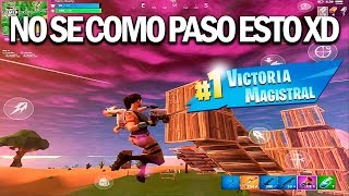NO SE COMO PASO ESTO!! XD FORTNITE MOBILE IOS/ANDROID