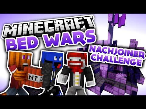 Jeder gegen uns - Nachjoiner Challenge! - Minecraft Bed Wars (Deutsch/German)