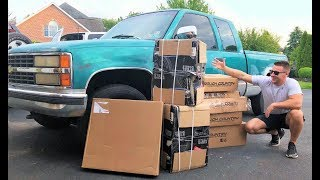 $1,200 Chevy Gets a HUGE LIFT KIT!!! (Costs More Than the Truck!) + Paint Prep! Army Green???