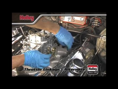 Attaching custom or specialized throttle linkage to a Holley carb