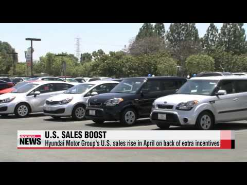 Hyundai Motor Group′s U.S. sales rise in April on back of extra incentives   현대·