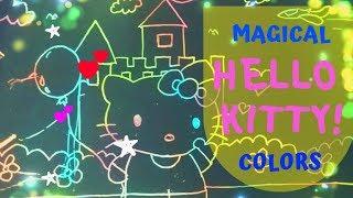 Hello Kitty Drawing on Magic Paper Art | Baby Kids TV