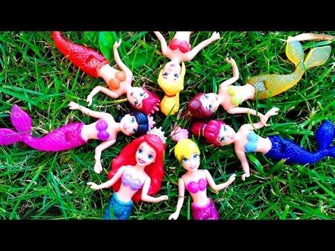 Princess Ariel Mermaids Sisters Gift Set Arielle Disney Princess Dolls The Little Mermaid Toys