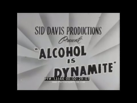 """ALCOHOL IS DYNAMITE""  1960s DRUNK DRIVING DRIVER'S ED SCARE FILM  13144"