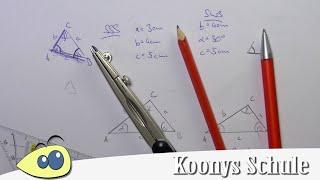 Dreiecke konstruieren, Kongruenzsätze, SSS, SWS, WSW, SsW, Geometrie, Beispiele