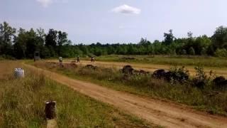 Dirt Bike on Dirt Drag Strip Racing