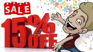 SUPPORT JAZZA - 15% Off SALE! (Limited Time @ Jazza Studios shop!)
