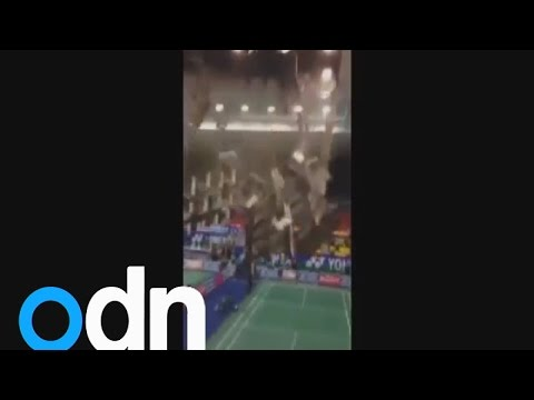 Badminton stadium collapse: Players narrowly escape injury in Vietnam