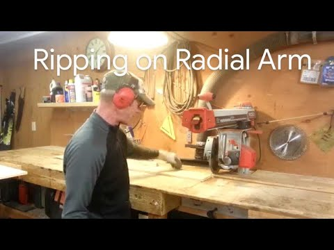 How to i Rip Wood on a Radial Arm Saw