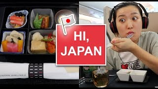 TRAVEL: Hi, Japan (DFW to NRT + Japan Airlines Business Class) | Crystall Cho